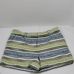 Ann Taylor Loft Aztec Stripe Shorts Womans size 6